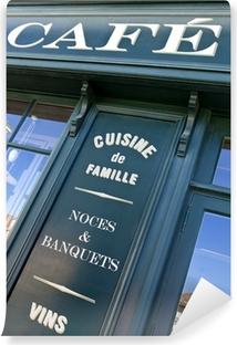 Kaffee, Bistro, Frankreich, Restaurant, Front, Mittagessen, retro