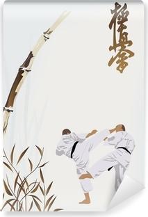 Vinyl-Fototapete Karate-Berufe