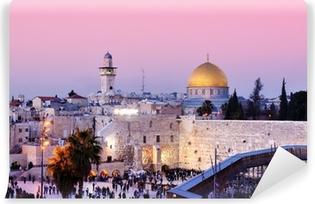 Vinyl-Fototapete Klagemauer und Felsendom in Jerusalem, Israel