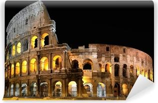 Vinyl-Fototapete Kolosseum in Rom bei Nacht