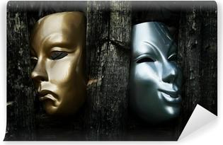 Vinyl-Fototapete Komödie und Tragödie - Drama Theater-Masken
