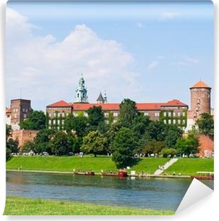 Vinyl-Fototapete Königsschloss am Wawel Hügel, Krakow, Polen