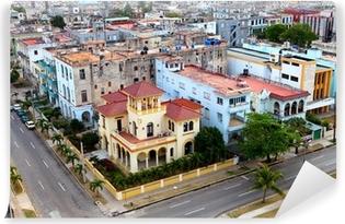 Vinyl-Fototapete Kuba. Alt-Havanna. Ansicht von oben.