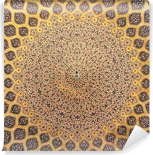 Vinyl-Fototapete Kuppel der Moschee, orientalische Ornamente aus Isfahan, Iran