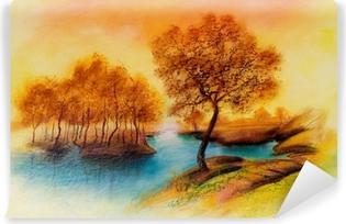 Abwaschbare Fototapete Landschaften Auf Öl Leinwand