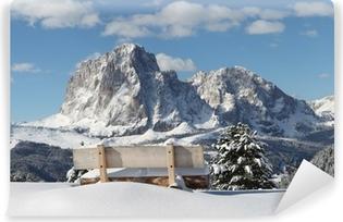 Vinyl-Fototapete Langkofel Berg der Dolomiten
