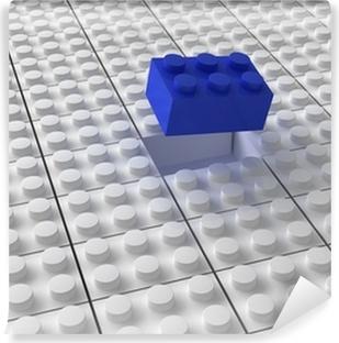 Vinyl-Fototapete Lego Hintergrund bw