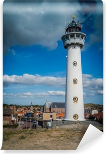 Vinyl-Fototapete Leuchtturm in Egmond aan Zee Niderlande