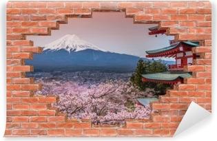 Vinyl-Fototapete Loch in der Wand - Fuji