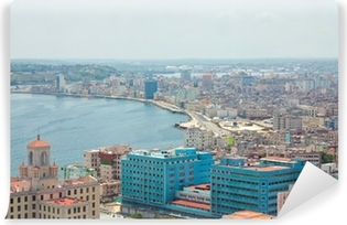 Vinyl-Fototapete Luftaufnahme des Havana Ufer