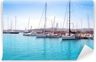 Vinyl-Fototapete Marina Hafen in Palma de Mallorca auf Balearen