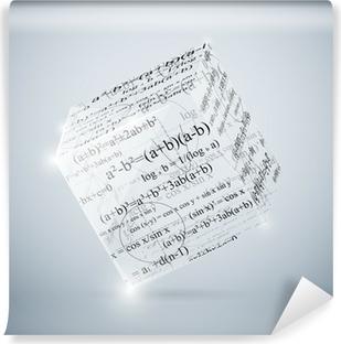 Vinyl-Fototapete Mathematische Würfel