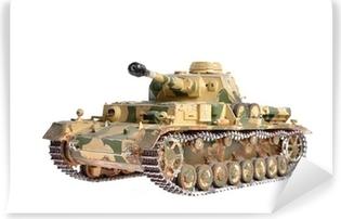 Vinyl-Fototapete Modell eines Deutsch-Tank aus dem Zweiten Weltkrieg