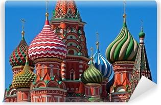 Vinyl-Fototapete Moskau Basilius Kathedrale Kuppel