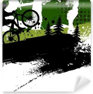 Vinyl-Fototapete Mountainbike abstrakten Hintergrund