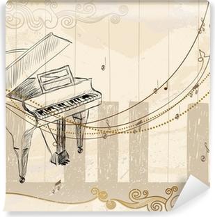 Vinyl-Fototapete Musikalischer Hintergrund