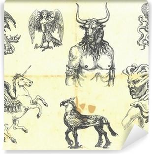 Vinyl-Fototapete Mystischen Kreaturen. Nach antiken griechischen Mythen.