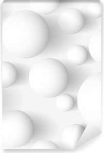 Vinyl-Fototapete Nahtlose abstrakte 3D-weißen sphärischen Hintergrund