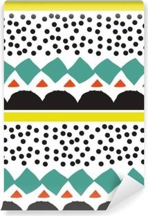 Vinyl-Fototapete Nahtlose Muster mit grafischen geometrischen Elementen