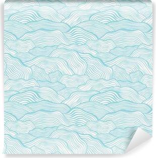 Vinyl-Fototapete Nahtlose Muster mit Wellen Skala Textur