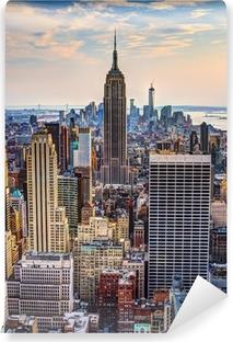 Vinyl-Fototapete New York City in der Abenddämmerung