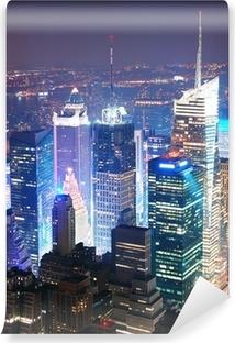 Vinyl-Fototapete New York City Manhattan Times Square Skyline Luftbild