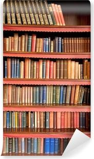 Vinyl-Fototapete Old Bücherregal mit Reihen der Bücher in der alten Bibliothek