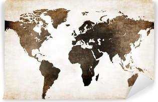 Vinyl-Fototapete Old world map