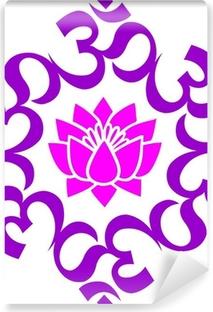 Vinyl-Fototapete OM - AUM - Lotus Mandala -Buddhistisches Symbol