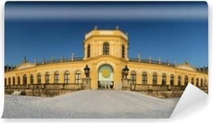 Vinyl-Fototapete Orangerie in Kassel - 200 ° Panorama im Winter.