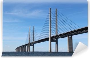 Vinyl-Fototapete Öresund Brücke - Verbindung zwischen Dänemark und Schweden