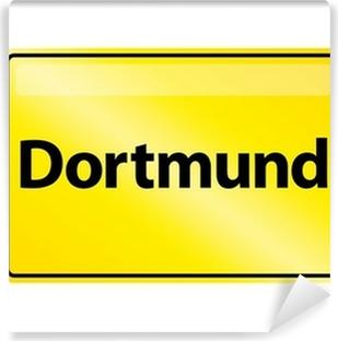 Vinyl-Fototapete Ortsschild Dortmund