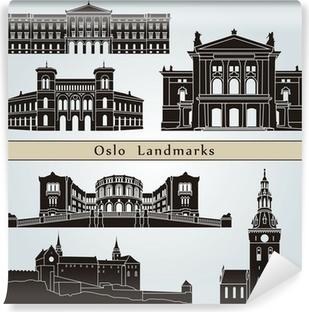 Vinyl-Fototapete Oslo Sehenswürdigkeiten und Monumente