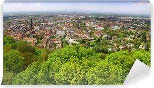 Vinyl-Fototapete Panorama-Blick von Freiburg im Breisgau Stadt, Deutschland