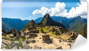 Vinyl-Fototapete Panorama der Geheimnisvolle Stadt - Machu Picchu, Peru, Südamerika.