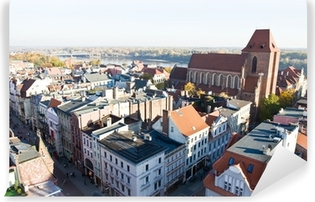 Vinyl-Fototapete Panorama der Stadt Torun in Polen