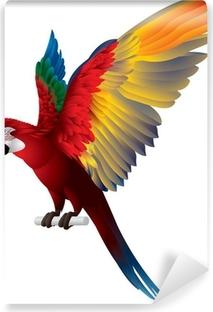 Vinyl-Fototapete Parrot Gespreizte Flügel