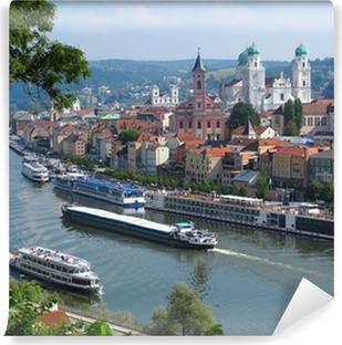 Vinyl-Fototapete Passau, Stadt der drei Flüsse, Bayern, Deutschland.
