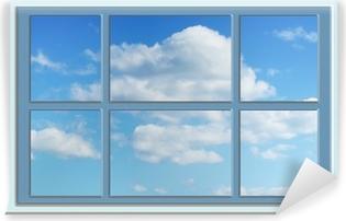 Vinyl-Fototapete Perfekt blauen Himmel durch das Fenster
