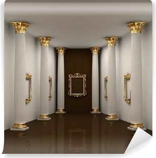 Abwaschbare Fototapete Perspektive Der Galerie Wände Mit Korinthischen  Ordnung Spalte