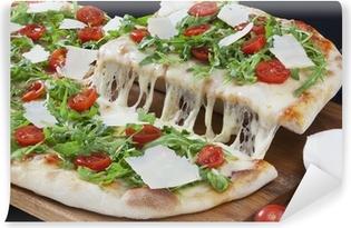 Vinyl-Fototapete Pizza Tomate Mozzarella