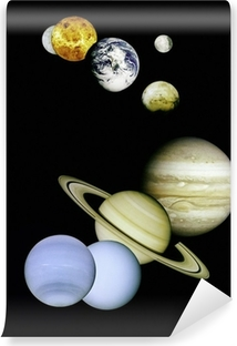 Vinyl-Fototapete Planeten im Weltraum.