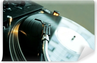 Vinyl-Fototapete Platin dj