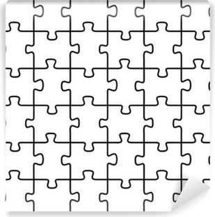 vinyl fototapete puzzle vektor hintergrund - Puzzle Muster