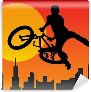 Vinyl-Fototapete Radfahrer