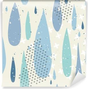 Vinyl-Fototapete Regen fällt nahtlose Muster
