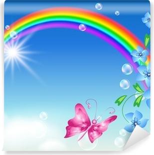 Vinyl-Fototapete Regenbogen in den Himmel