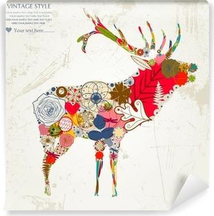 Vinyl-Fototapete Reh