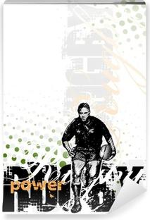 Vinyl-Fototapete Rugby-Hintergrund 2