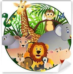 Vinyl-Fototapete Safari cartoon